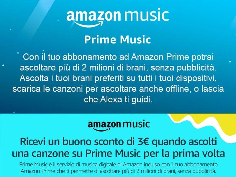 Amazon Music 2 milioni di brani gratis