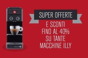 Fino al 40% di sconto su caffè e macchine Illy