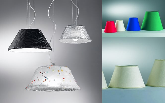 Lampade design outlet: bello outlet lampadari in tessuto materiale